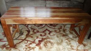 Rectangular Wood Coffee Table For Sale!