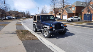 Jeep tj 2001 solid frame and runs mint
