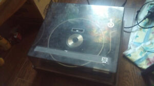 Turn Table / Record Player With Records: Prince, Fleetwood, etc.