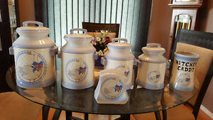 Mother Goose Kitchen Canister Collection in New Condition.