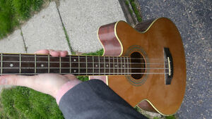 Jasmine acoustic electric bass guitar $150 firm