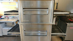 "Zesto 32"" x 40"" Double Stack Gas Conveyor Oven"