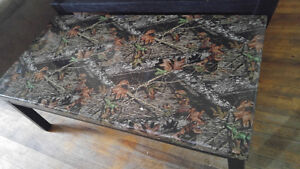 Camo coffee table and one end table or best offer