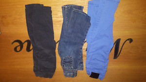 5 pairs jeggings and jeans girls 12-24 months