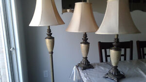Unique set of 3 lamps