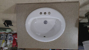 Vanity top, faucet and sink