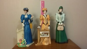 11 Avon Figurines...$75.00 .+plates and music boxes  and  globes