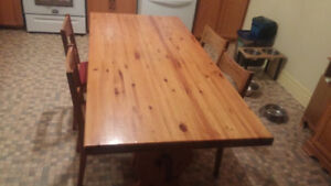 Solid Pine Harvest Table-Southampton
