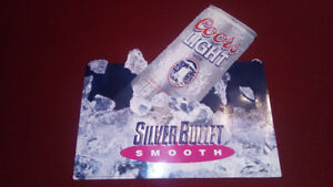 Coors Light tin sign $30