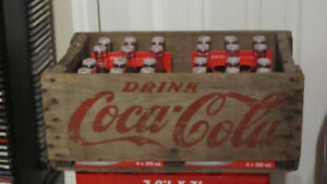 coca-cola bottles and crate $150