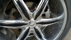 Set of 4, Goodyear Fortera, 22 in. Tires and Rims