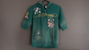 Ed Hardy Half sleeve zip up hoody Cambridge Kitchener Area image 1