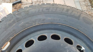 Set of 215/60 R60 Michelin X-Ice3 9/32 thread with steel rims