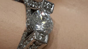 18KT White Gold and Diamond Engagement Ring - $1499.99