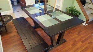 Rustic Dining Table & Bench - must go