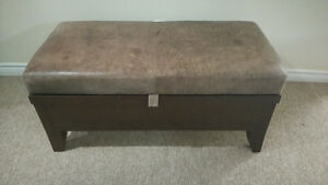 Canadian Made Leather Top Footrest and Storage Box Kitchener / Waterloo Kitchener Area image 1
