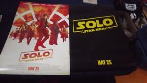 """""""SOLO"""" SET OF 2 TEASER MOVIE POSTERS  2018/STAR WARS UNIVERSE"""