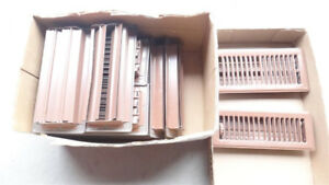 Solid Steel Floor registers in 3 x 10 and 4 x 10 inches