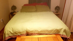Double-sized duvet cover and pillow cases