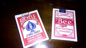 2 DECK of PLAYING CARDS - 1 UNOPENED 1 OPENED BUT NEW