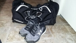 under armour gym bag, brand new and bandit 2 sneakers.
