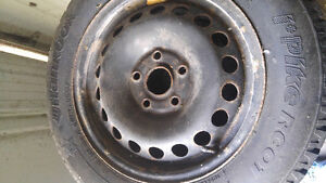 Winter tires and rims Kingston Kingston Area image 1