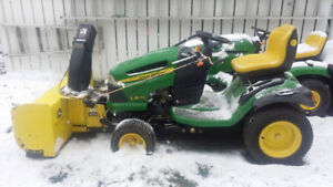 John Deere LA175 with mower and blower READY TO BLOW SNOW!