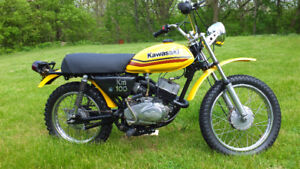1979 Kawasaki KM 100 2 stroke Dirt Bike Restored-Runs Great