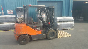 Two Doosan 6000lb Capacity Forklifts - In Excellent Condition