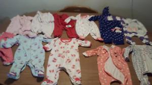 Lot of newborn clothes