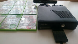 XBOX 360 console with Kinect sensor