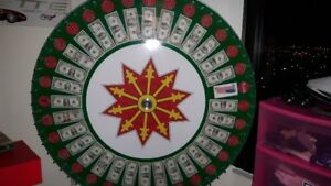 48 inch money wheel, for stags, for sale, real American money