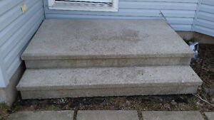 Concrete front step.
