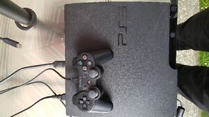 ps3 console and one controller