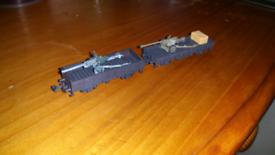 N gauge Trix army field gun wagons