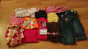 6-12 month girls winter lot of clothing