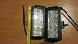 """2x 6"""" LED light Bars with black covers"""