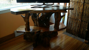 One of a kind exotic   wood carved tv stand Kingston Kingston Area image 10