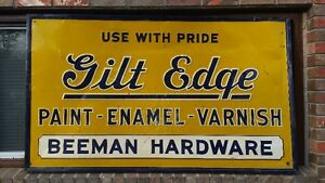 Beemans Hardware Sign - Gilt Edge Paints Edmonton Edmonton Area image 1