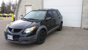 03 pontiac vibe. W/ winter tires and sunroof