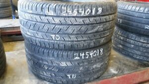 Pair of 2 Continental ContiProContact 245/40R18 tires (85% tread