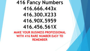416 Lucky Phone Numbers 416.786.44X5