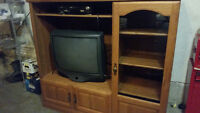 Solid wood TV Table with TV incl