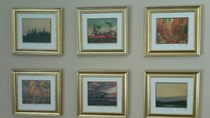 6 Framed Matted Prints by Group of Seven's Tom Thomson