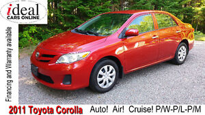 2011 Toyota Corolla    Auto! Air! Cruise! One Owner! Low Mileage