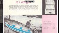 1957 Feathercraft aluminum fishing boat