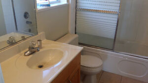 Partially furnished one bedroom suite with attached garage