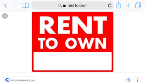 House (rent too own 20,000 down)