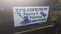 TY'S CONCRETE PLACING AND FINISHING