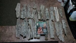 Cotton Wood Carving  Bark 18 Pieces and Book